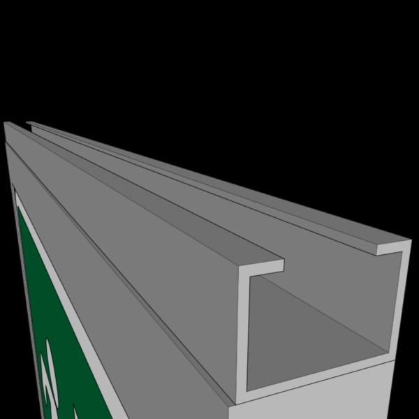 c-skena halvprofil